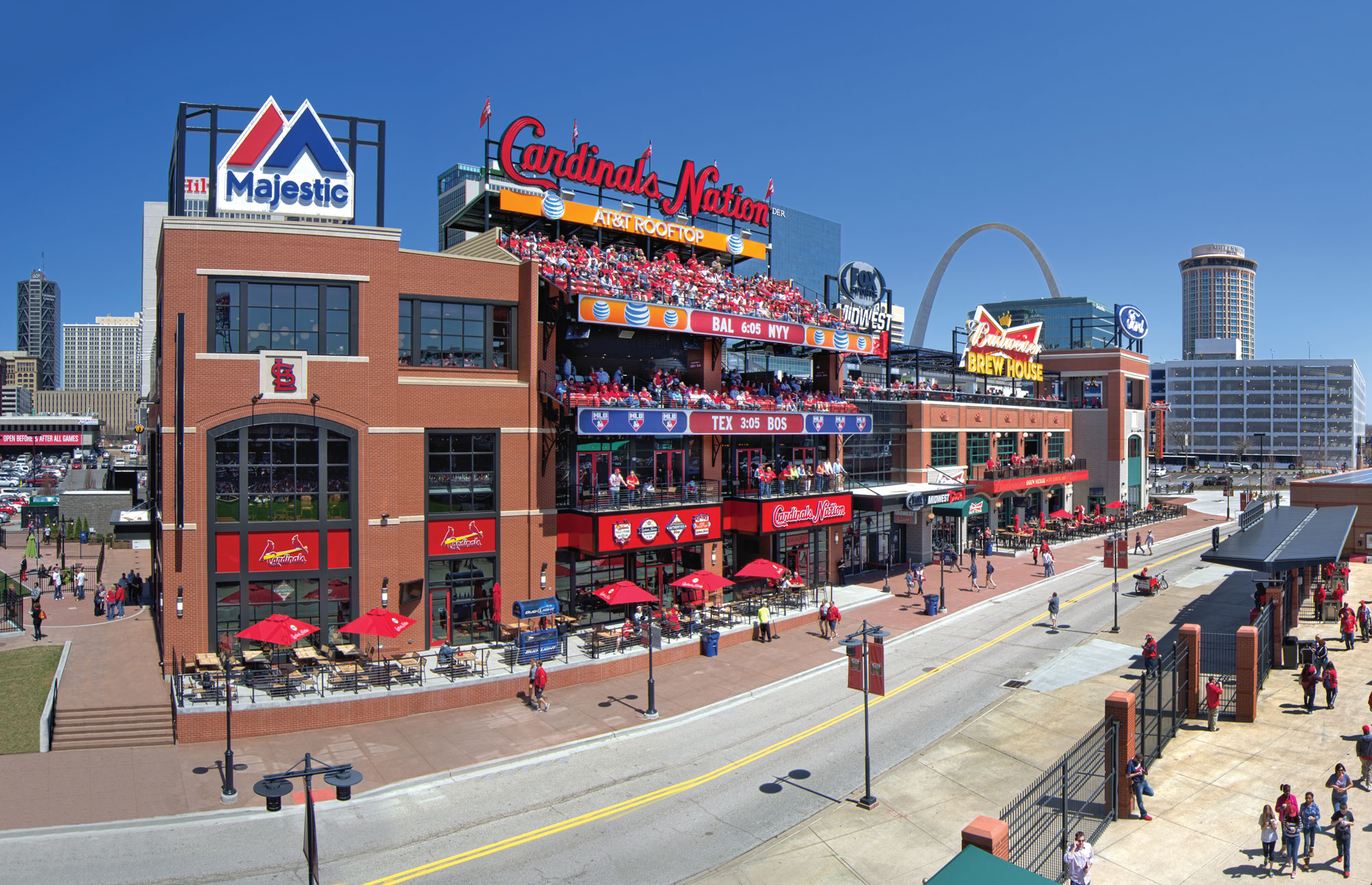 Ballpark Village entertainment destination in downtown St. Louis, MO constructed by PARIC Corp.