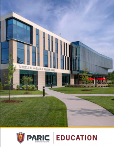 Education Market Brochure from Paric Construction in St. Louis, Mo