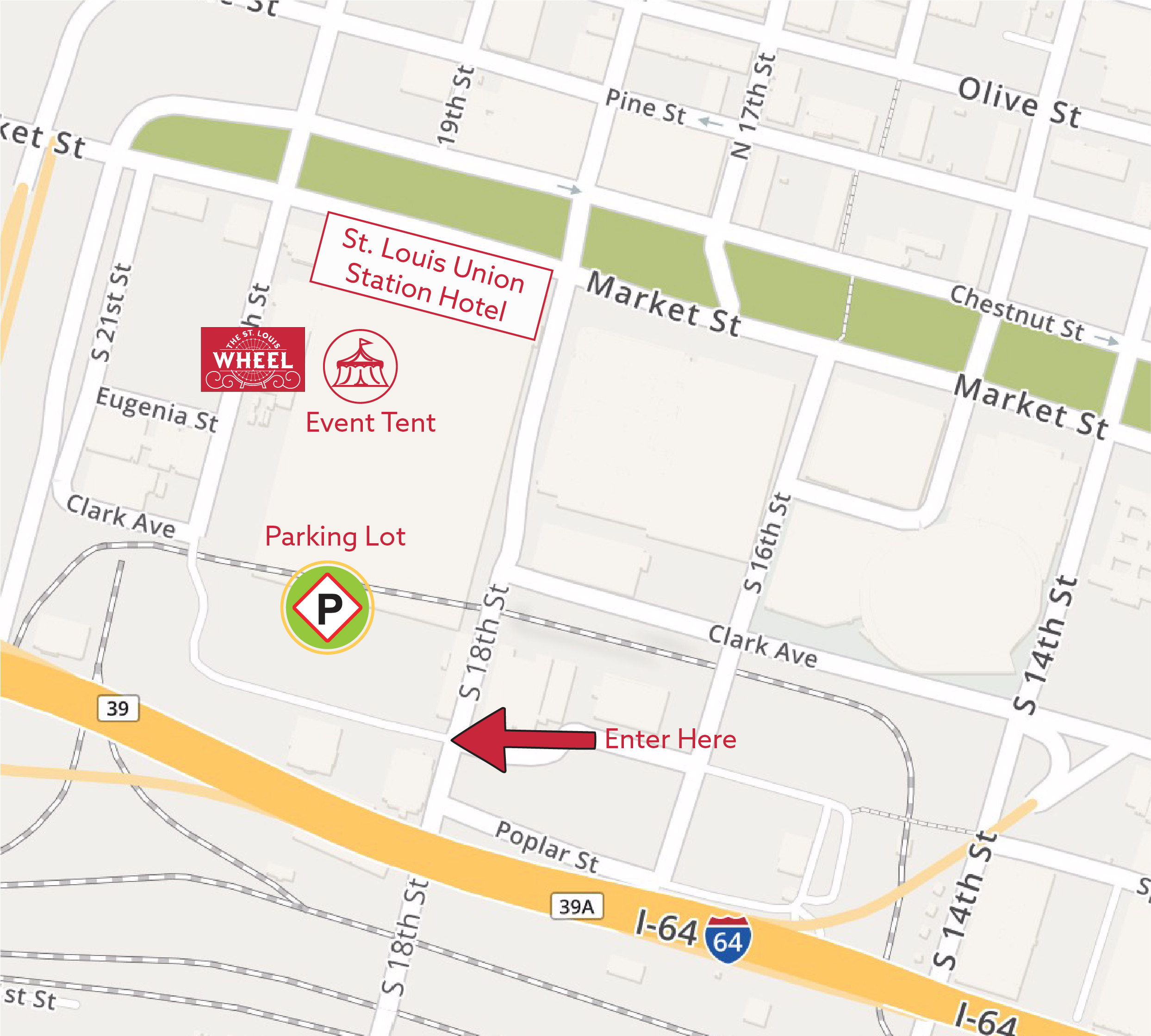 Union Station Parking Map